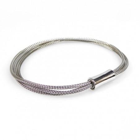 Sølv armbånd - 3 rk med magnetlås