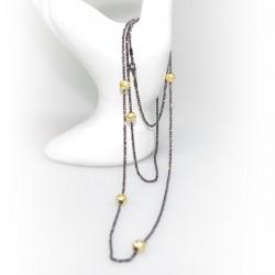 Lang kæde med Starlight Beads