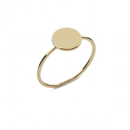 Guld ring med dot, 8 mm