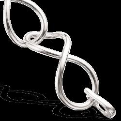 Kraftigt sølv armbånd