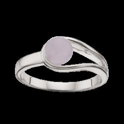 Sølv ring med rosa kvarts
