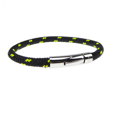 Armbånd - Outdoor rope 6 mm - sort/gul