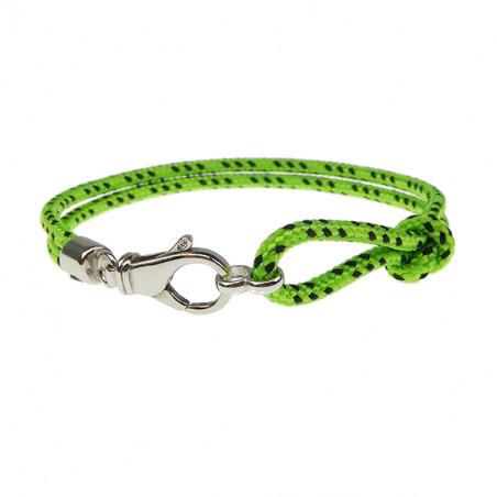Armbånd - Outdoor rope - 2 rækket med sølv lås - lime