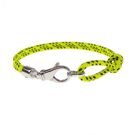 Armbånd - Outdoor rope - 2 rækket med sølv lås - gul