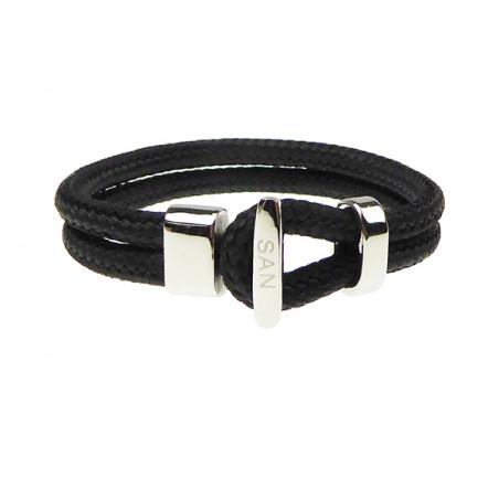 Armbånd - Outdoor rope 2x6 mm - sort