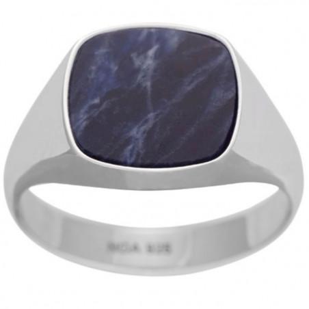 Herrering i sølv m. blå sodalite - SON