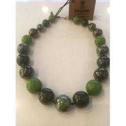 Kazuri - Tango Clear Green