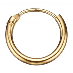 guld ørecreoler 1,2 x 11 mm