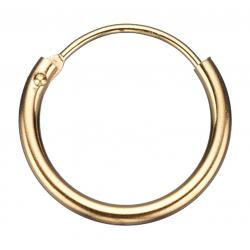 Guld ørecreoler 1,2 x 13 mm - 1