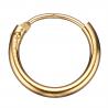 Guld ørecreoler 1,2 x 15 mm - 1