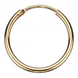 Guld ørecreoler 1,4 x 20 mm - 1