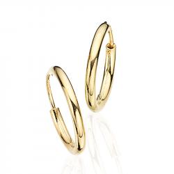 Guld ørecreoler 2,0 x 15 mm