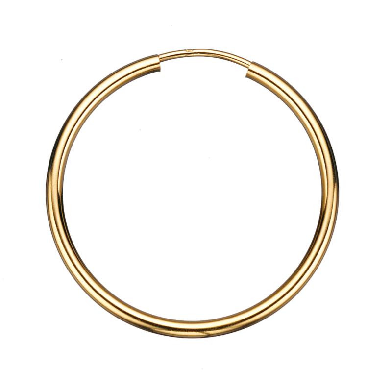 Guld ørecreoler 2,0 x 30 mm