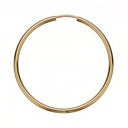 Guld ørecreoler 2,0 x 40 mm