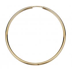 Guld ørecreoler 2,0 x 50 mm