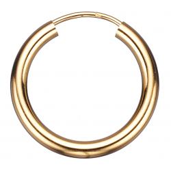 Guld ørecreoler 2,5 x 20 mm