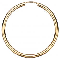 Guld ørecreoler 2,5 x 40 mm