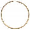 Guld ørecreoler 2,5 x 60 mm