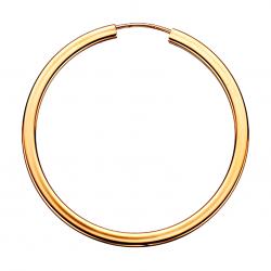 Guld ørecreoler 2,3 x 38 mm - 1