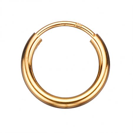Guld ørecreoler 2,0 x 13 mm