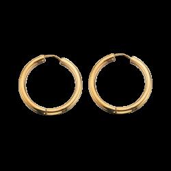 Guld clip-ørecreoler 3,0 x 26 mm
