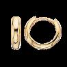 Guld clip-ørecreoler 3,1 x 12 mm