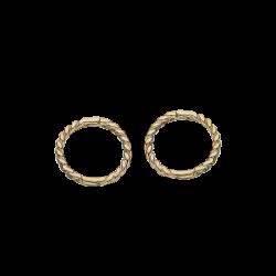 Guld clip-ørecreoler 1,0 x 9 mm