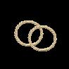 Guld clip-ørecreoler snoet 1,0 x 12 mm