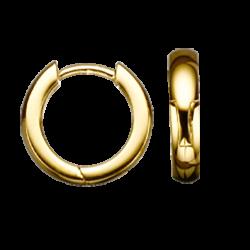 Guld clip-ørecreoler 2,8 x 12 mm
