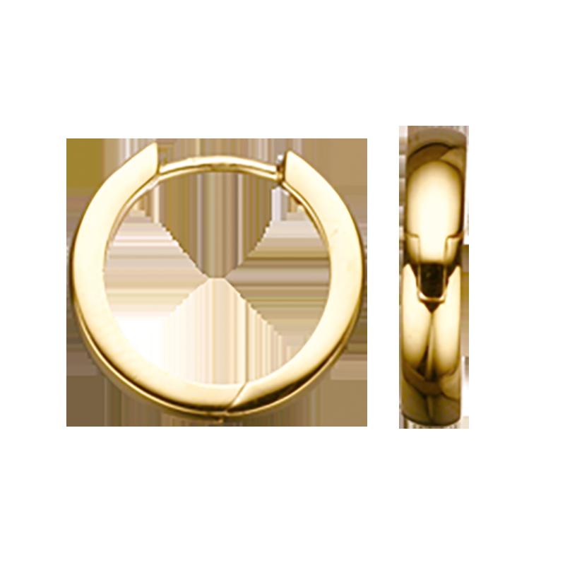 Guld clip-ørecreoler 3,0 x 14 mm
