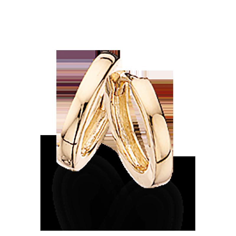 Guld clip-ørecreoler 2,0 x 11,5 mm