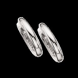 Guld clip-ørecreoler 2,3 x 13 mm, hvidguld