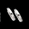 Guld clip-ørecreoler 1,6 x 12 mm hvidguld