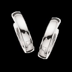 Guld clip-ørecreoler 3,0 x 14 mm hvidguld