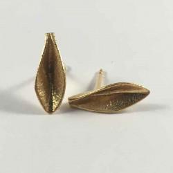 Grass - øreringe i forgyldt sølv - 52-0-78FG - P1