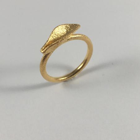 Grass - Ring i forgyldt sølv