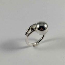 Bubbles - Ring med bobler i sølv og 14kt. - 29-2-94 - P1