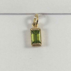 Square vedhæng 14 kt. m/ peridot - 79-6-33 - P1