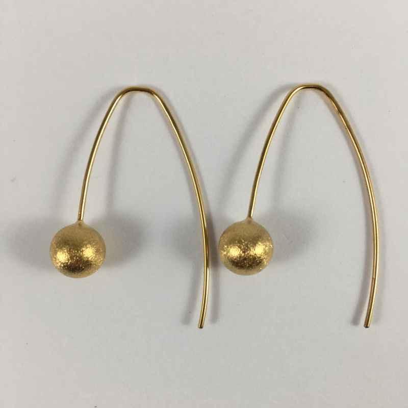 Globe øreringe i fg. sølv - 29-5-16FG - P1