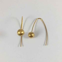Globe øreringe i fg. sølv - 29-5-16FG - P2