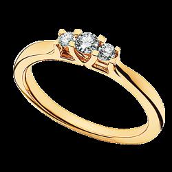 Zoya Ring 14 kt. Rødguld 0,18 H-W/SI - 7525,18