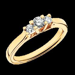 Zoya Ring 14 kt. Rødguld 0,27 H-W/SI - 7525,27