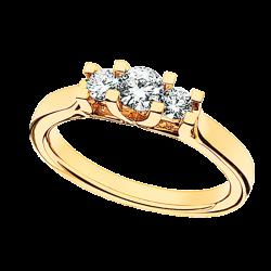 Zoya Ring 14 kt. Rødguld 0,46 H-W/SI - 7525,46