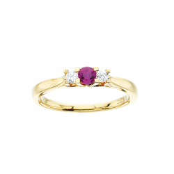 Zoya Ring 14 kt. Rødguld 0,11 H-W/SI 0,24 Rubin - 7525R