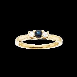 Zoya Ring 14 kt. Rødguld 0,11 H-W/SI 0,24 Safir - 7525SA