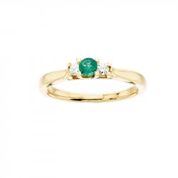 Zoya Ring 14 kt. Rødguld 0,11 H-W/SI 0,17 Smaragd - 7525SM