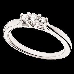 Zoya Ring 14 kt. Hvidguld 0,18 H-W/SI - 7526,18