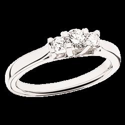 Zoya Ring 14 kt. Hvidguld 0,27 H-W/SI - 7526,27