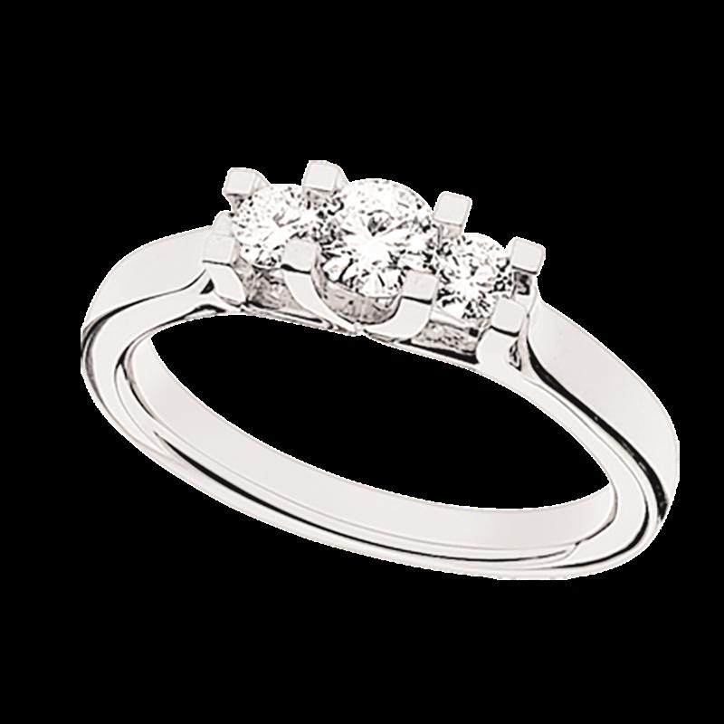 Zoya Ring 14 kt. Hvidguld 0,46 H-W/SI - 7526,46