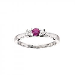 Zoya Ring 14 kt. Hvidguld 0,11 H-W/SI 0,24 Rubin - 7526R